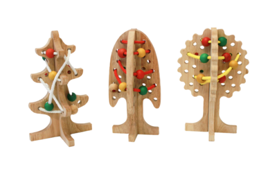 Wooden Lacing Trees, set of 3