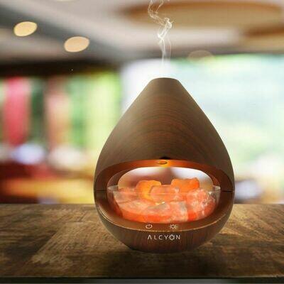 KIYOSHI ULTRASONIC SALT LAMP DIFFUSER [160ML | 6+HRS] - Dark Maple