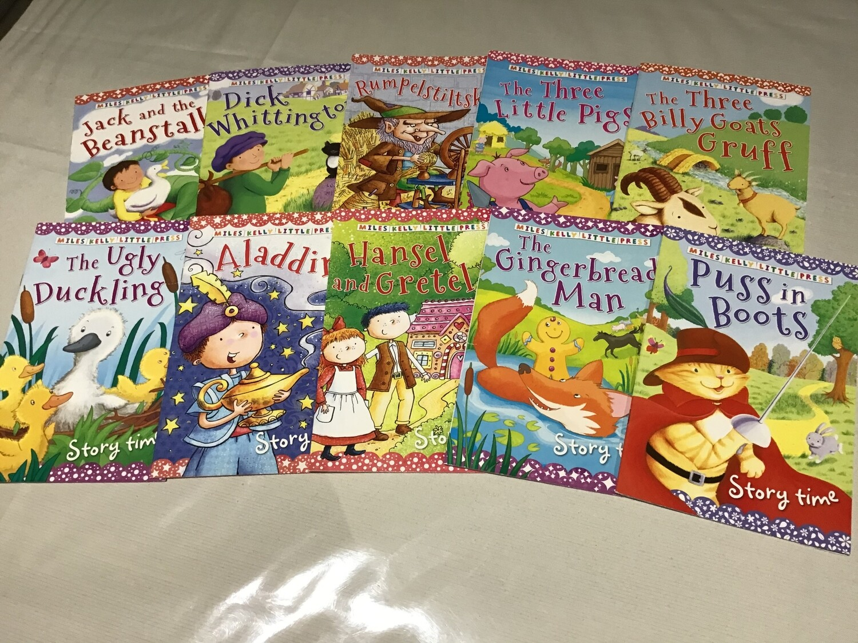 Miles Kelly Little Press Fairytale Set of 10