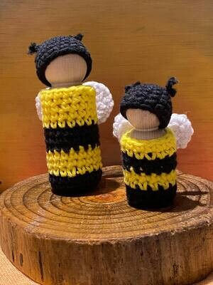 9cm bee/butterfly peg doll outfits