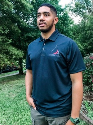 Golf Collared Shirt with Embroidery