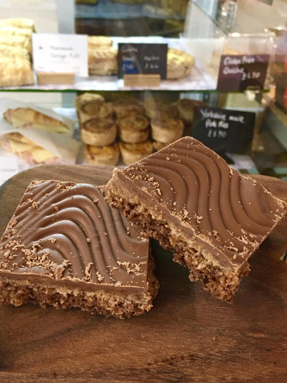 Chocolate & Coconut Crunch Traybake (portion)