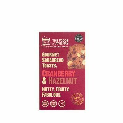 Foods of Athenry - Cranberry & Hazlenut soda bread toast (GF)