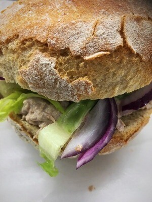 Tuna Mayo with Red Onion and Lettuce