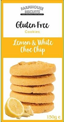 BACK IN! Farmhouse Biscuits Gluten Free - Lemon & White Chocolate chip