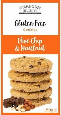 BACK IN! Farmhouse Biscuits Gluten Free -Hazelnut & Choc Chip