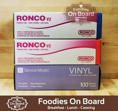 Food Service Gloves(100 Ct) / 食物安全级别一次性手套(贴手) 一盒100个