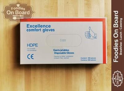 Food Service Gloves(500 CT) /食物安全级别塑料手套(不贴手) 一盒500个