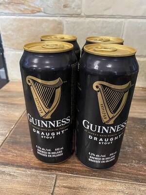 Guinness Draught Stout Beer 4x440ml/ 吉尼斯(健力士)黑啤 4罐x440毫升