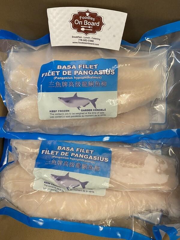 Single Frozen Premium Basa Fillet 1pack 1.8-2LB /高级单冻龙利鱼柳(1包,1.8-2磅)