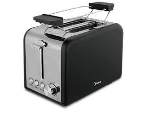 2 Slice Toaster with warming rack - Stainless