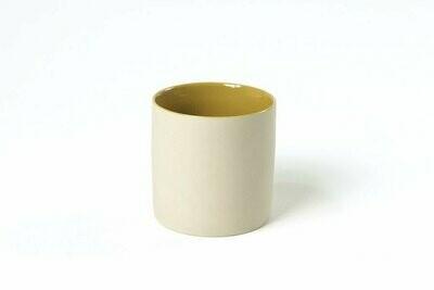 Tasse S - Extérieur crème / Intérieur jaune