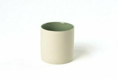 Tasse S - Extérieur crème / Intérieur vert d'eau