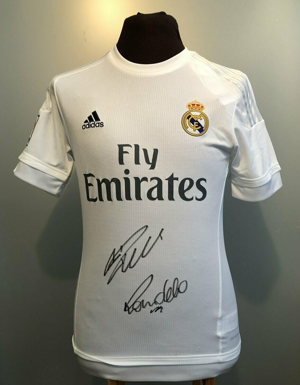 Cristiano Ronaldo R9 Ronaldo Dual Hand Signed Real Madrid Football Soccer Shirt Jersey Coa
