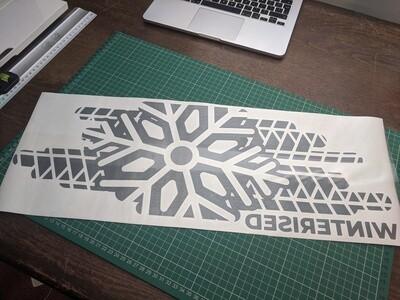 Large Winterised Window Sticker