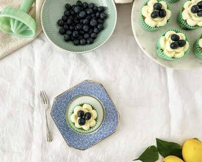 -LIMITED EDITION-          Lemon & Blueberry Cupcake                    Baking Kit