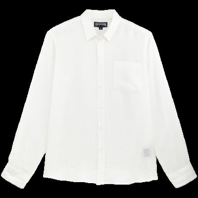 Caroubis Men Linen Shirt Solid