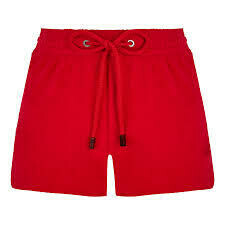 Fiona Terry Cloth Shortie Solid - Shorty - Fiona In Red