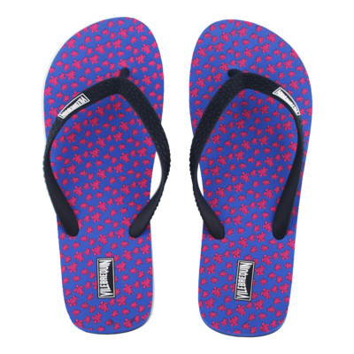 Copp Men Flip Flops Micro Turtles In Blue