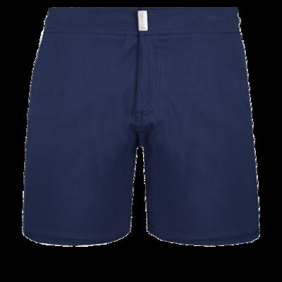 Merise Men Flat Belt Stretch Swimwear Solid