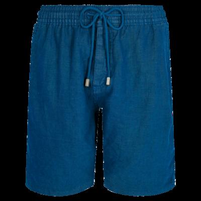 Bahamas Men Linen Bermuda Short Solid