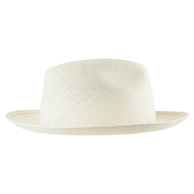 Unisex Natural Straw Panama Hat Solid