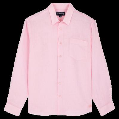 Men Linen Shirt Solid