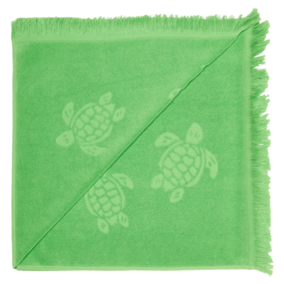 Fouta in terry cloth Turtles Jacquard