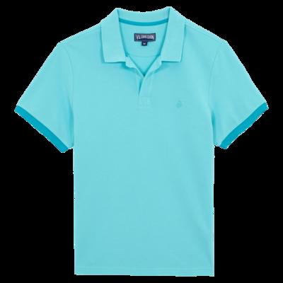 Palan Men Cotton Pique Polo Shirt Solid