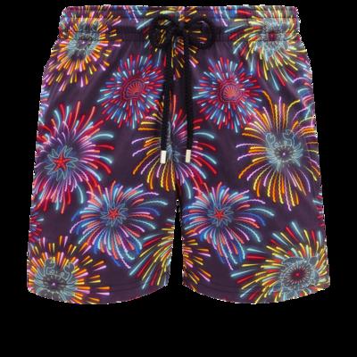 Moorise Men Swimwear Stretch Fireworks