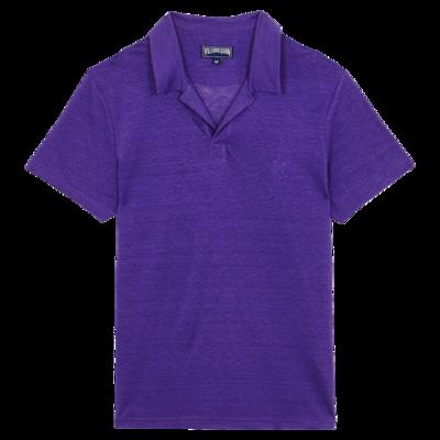 Pyramid Men Linen Jersey Polo Shirt Solid
