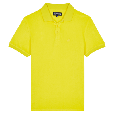 Pacific Men Terry Polo Shirt Solid