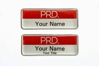 PRD Corporate Name Badge | Silver Metal