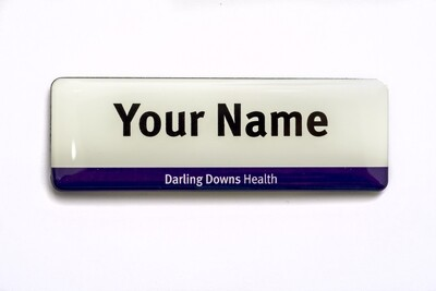 Darling Downs Health 'Easy Read' NAME BADGE -no title