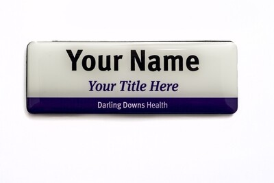 Darling Downs Health 'Easy Read' NAME BADGE - with title