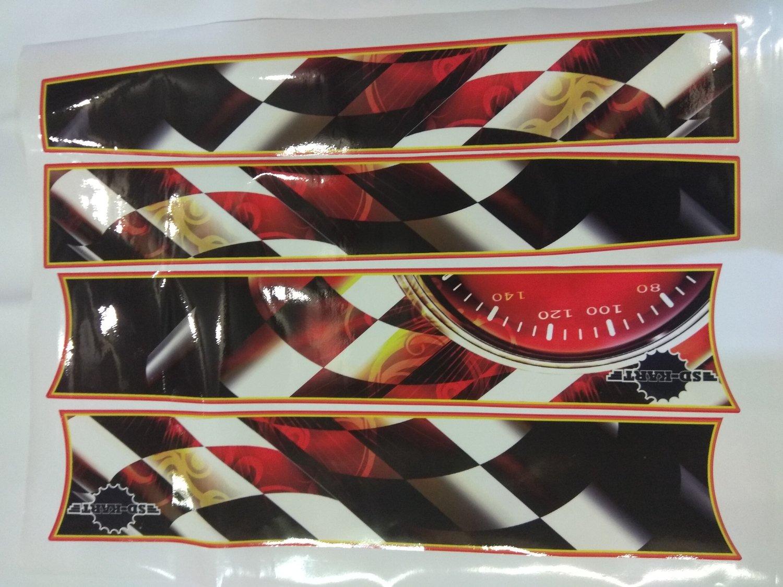 Комплект наклеек на боковые короба (бок-125 х590мм, верх-100 х165 мм)