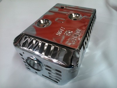 Защита глушителя GX 120-200 (хромированная)