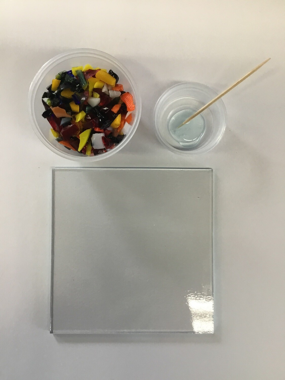 "Fused Glass: 4"" Square"