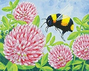 "Zoom Art Class: (Suggested 18 and up!) ""Bee and Clover"" Aug 21st"