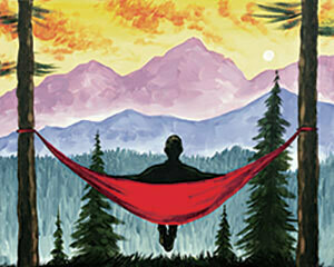 "Zoom Art Class: (Suggested ages 18 and up!) ""Mountain Hammock"" Aug 7th"