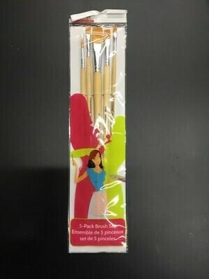 Long Handle Acrylic Brushes (5pk)