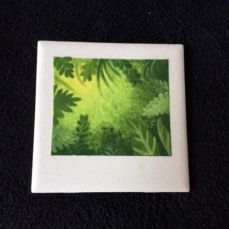"Zoom Art Class: Polaroid 4"" Ceramic Tile ""Glowing Garden""- Tuesday Aug 25th @ 7pm"