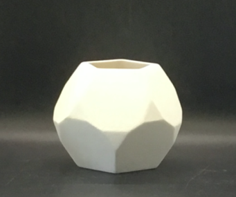 """4.5""""h Faceted Planter"""