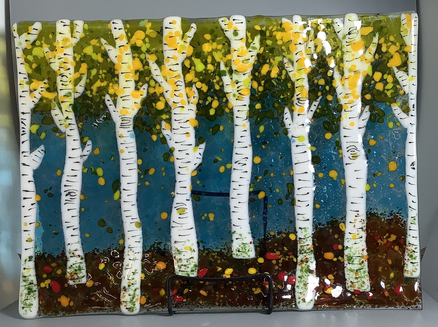 Glass Fusing Class: Birch Trees  Wed. Oct 21st at 11am-2pm