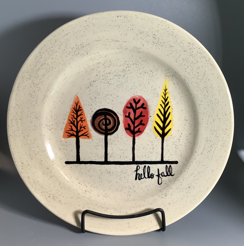 """""""Hello Fall Tree"""" Rim Dinner Plate- Tues. Nov 24th (6:30-8pm)"""