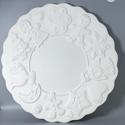 "13"" Christmas Cookie Platter"