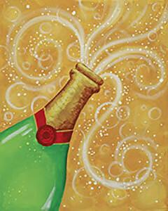 """Bubbly"" Square Rim Platter-  Tues. Dec 29th (6:30-8pm)"