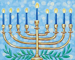"""Menorah"" Rim Salad Plate -  Sunday. Dec 6th (3-4:30pm)"