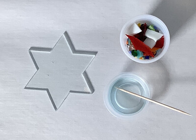 Fused Glass: Star of David