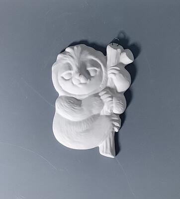 Flat Sloth Ornament